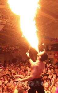 Feuer schlucken und Pyroshows vom Feuerkünstler in Velbert